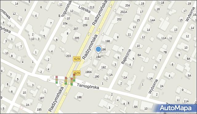 Warszawa, Radzymińska, 194, mapa Warszawy