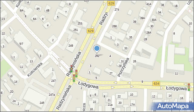 Warszawa, Radzymińska, 262, mapa Warszawy