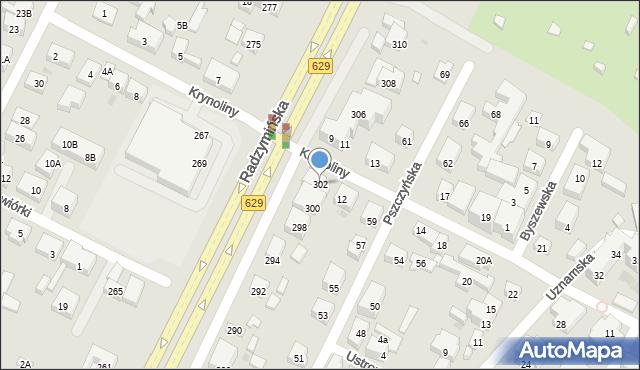 Warszawa, Radzymińska, 302, mapa Warszawy