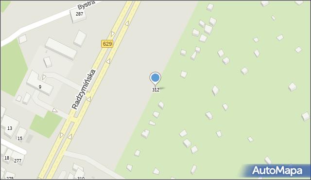 Warszawa, Radzymińska, 312, mapa Warszawy