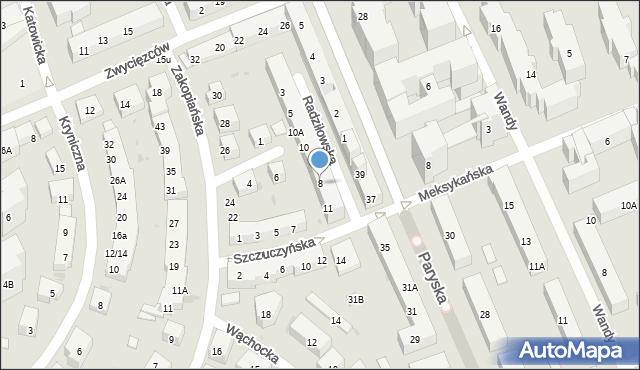 Warszawa, Radziłowska, 8, mapa Warszawy