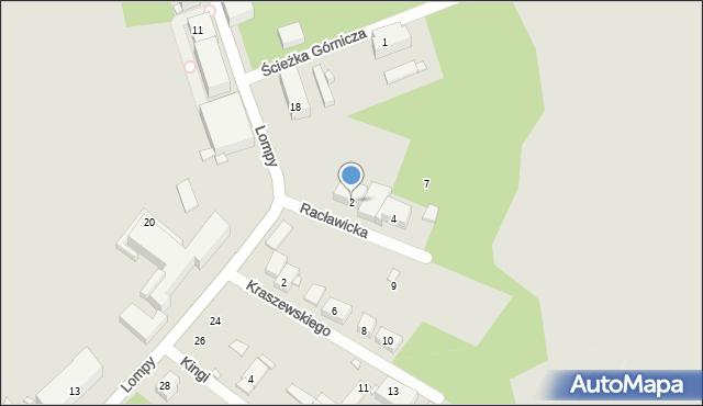 Zabrze, Racławicka, 2, mapa Zabrza