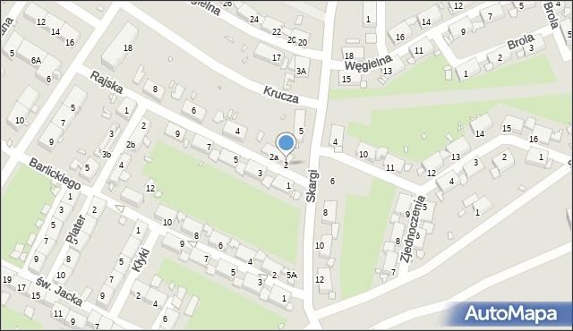 Zabrze, Rajska, 2, mapa Zabrza