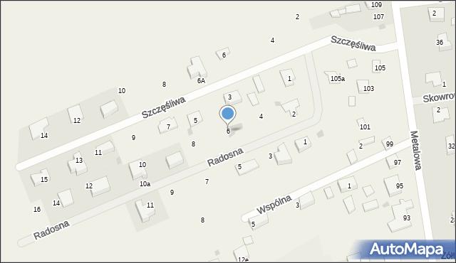 Żółtańce-Kolonia, Radosna, 6, mapa Żółtańce-Kolonia