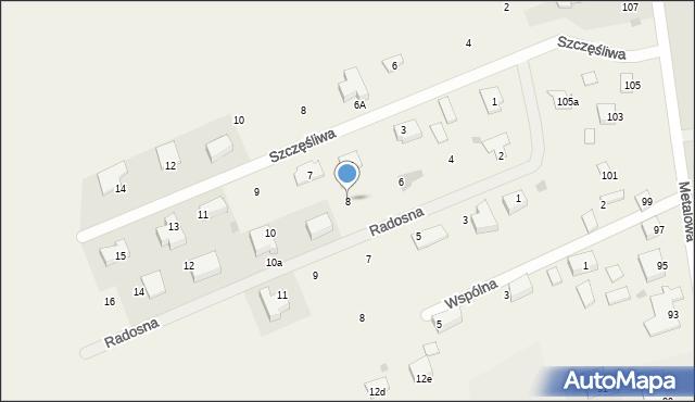 Żółtańce-Kolonia, Radosna, 8, mapa Żółtańce-Kolonia