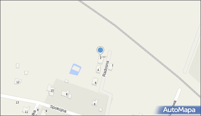 Żurawiniec, Radosna, 2, mapa Żurawiniec