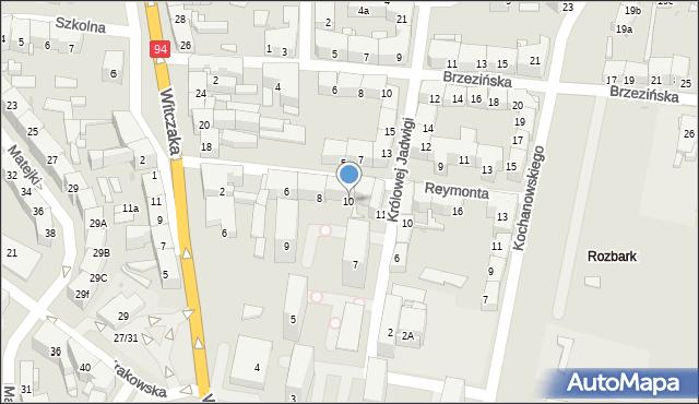 Bytom, Reymonta Władysława, 10, mapa Bytomia
