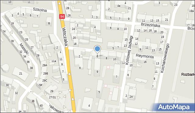 Bytom, Reymonta Władysława, 6, mapa Bytomia
