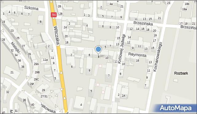 Bytom, Reymonta Władysława, 8, mapa Bytomia