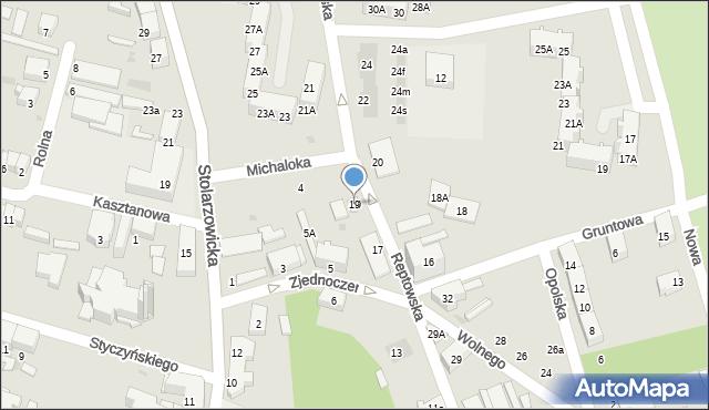 Bytom, Reptowska, 19, mapa Bytomia