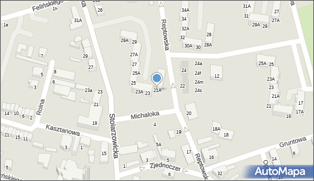 Bytom, Reptowska, 21A, mapa Bytomia