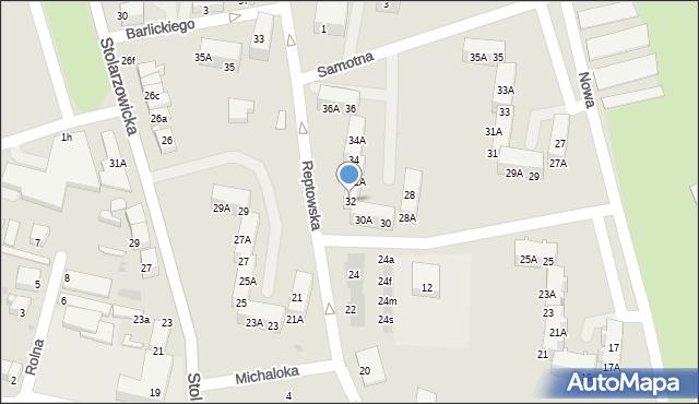Bytom, Reptowska, 32, mapa Bytomia
