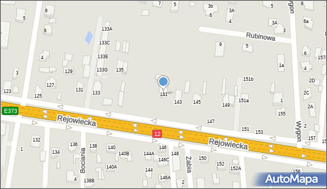Chełm, Rejowiecka, 141, mapa Chełma