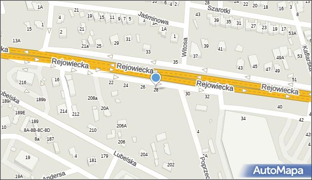 Chełm, Rejowiecka, 28, mapa Chełma