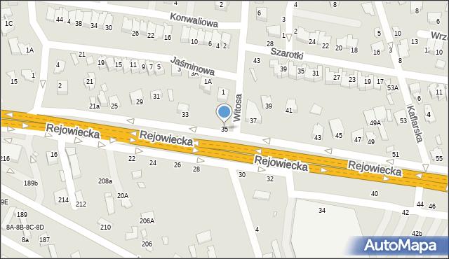 Chełm, Rejowiecka, 35, mapa Chełma