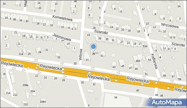 Chełm, Rejowiecka, 39, mapa Chełma
