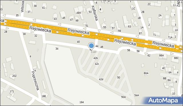 Chełm, Rejowiecka, 42A, mapa Chełma