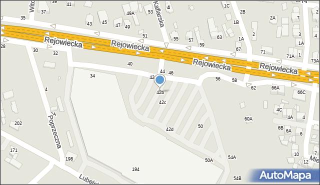 Chełm, Rejowiecka, 42B, mapa Chełma