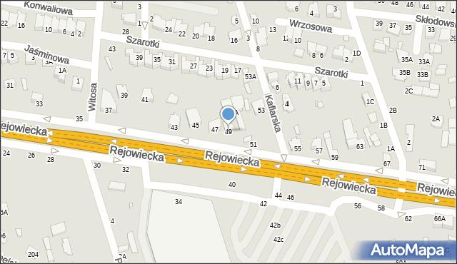 Chełm, Rejowiecka, 49, mapa Chełma