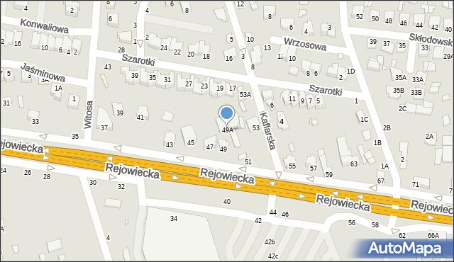 Chełm, Rejowiecka, 49A, mapa Chełma