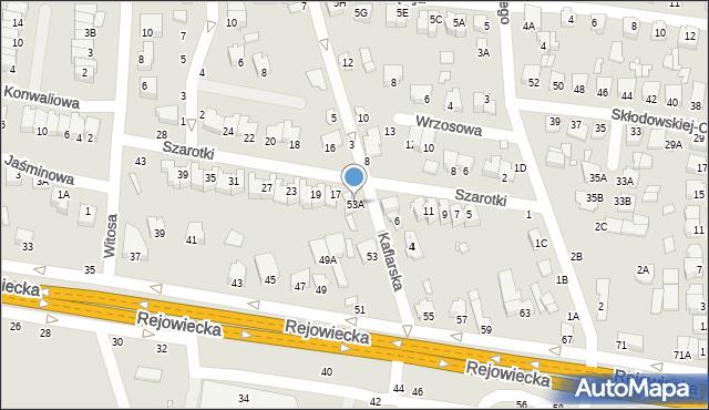 Chełm, Rejowiecka, 53A, mapa Chełma