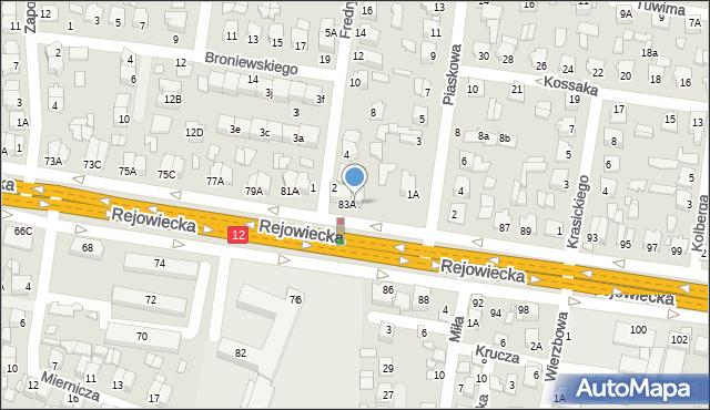 Chełm, Rejowiecka, 83B, mapa Chełma