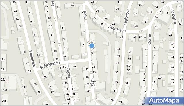 Gdynia, Reja Mikołaja, 9, mapa Gdyni