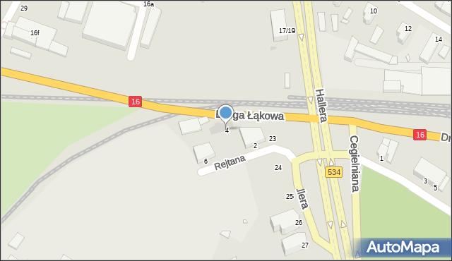 Grudziądz, Rejtana Tadeusza, 4, mapa Grudziądza
