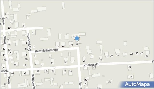 Jedwabne, Rembielińskiego Rajmunda, 18, mapa Jedwabne