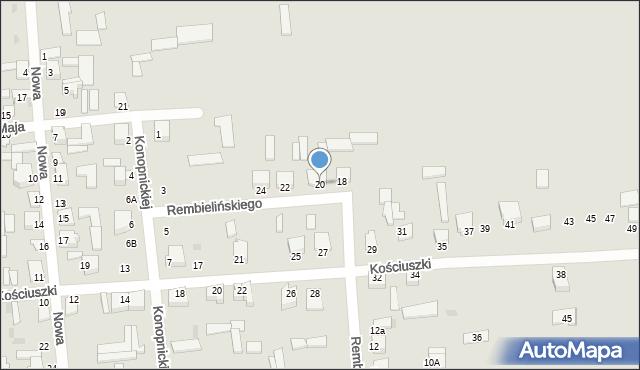 Jedwabne, Rembielińskiego Rajmunda, 20, mapa Jedwabne