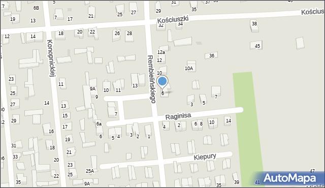 Jedwabne, Rembielińskiego Rajmunda, 6, mapa Jedwabne