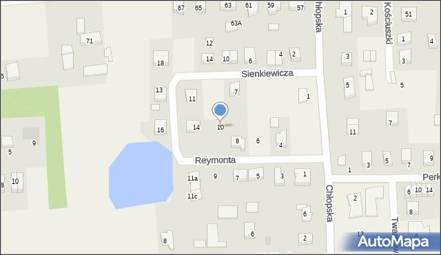 Kębłowo, Reymonta Władysława, 10, mapa Kębłowo