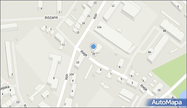 Kętrzyn, Reja Mikołaja, 10, mapa Kętrzyn