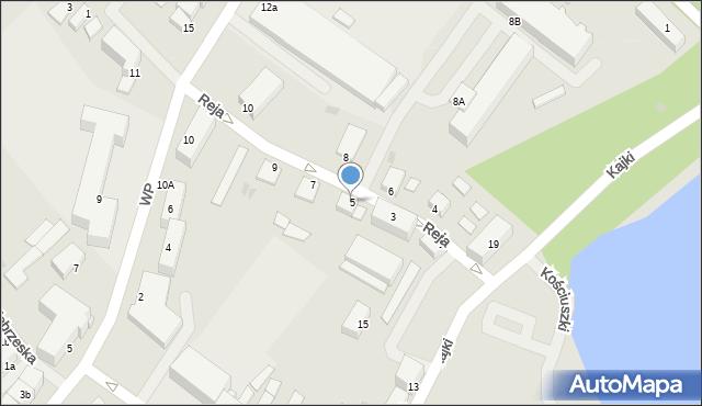 Kętrzyn, Reja Mikołaja, 5, mapa Kętrzyn