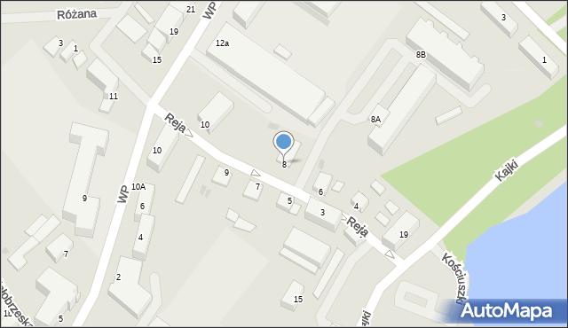 Kętrzyn, Reja Mikołaja, 8, mapa Kętrzyn