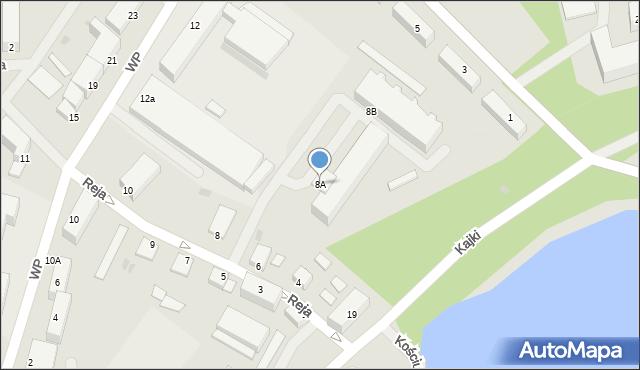 Kętrzyn, Reja Mikołaja, 8A, mapa Kętrzyn