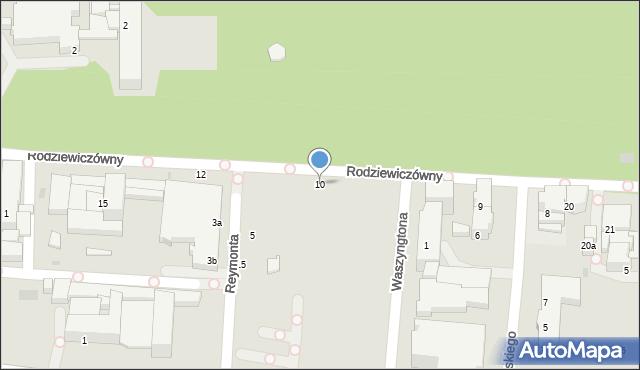Kołobrzeg, Reymonta Władysława, 10, mapa Kołobrzegu