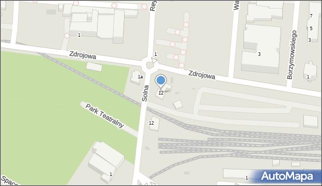 Kołobrzeg, Reymonta Władysława, 12, mapa Kołobrzegu