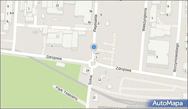 Kołobrzeg, Reymonta Władysława, 2, mapa Kołobrzegu
