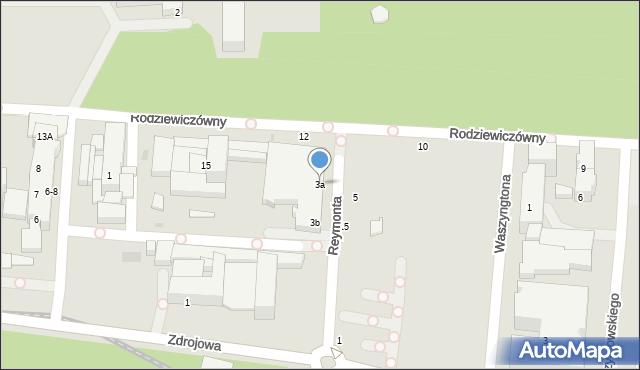 Kołobrzeg, Reymonta Władysława, 3a, mapa Kołobrzegu