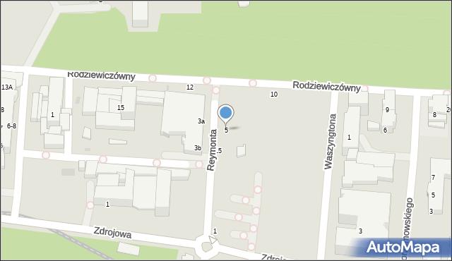 Kołobrzeg, Reymonta Władysława, 5, mapa Kołobrzegu