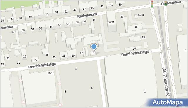 Łódź, Rembielińskiego Rajmunda, 15, mapa Łodzi
