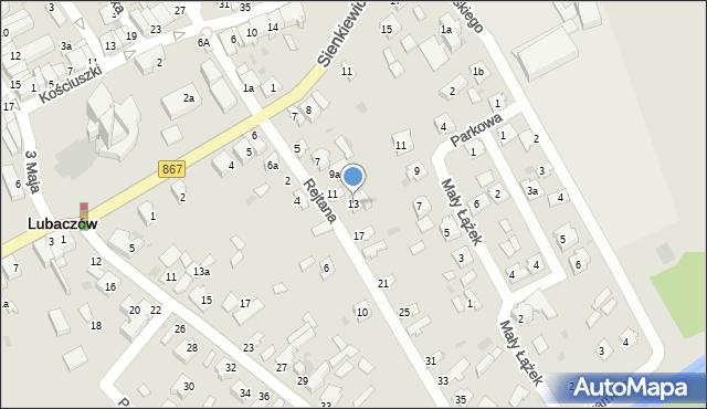 Lubaczów, Rejtana Tadeusza, 13, mapa Lubaczów