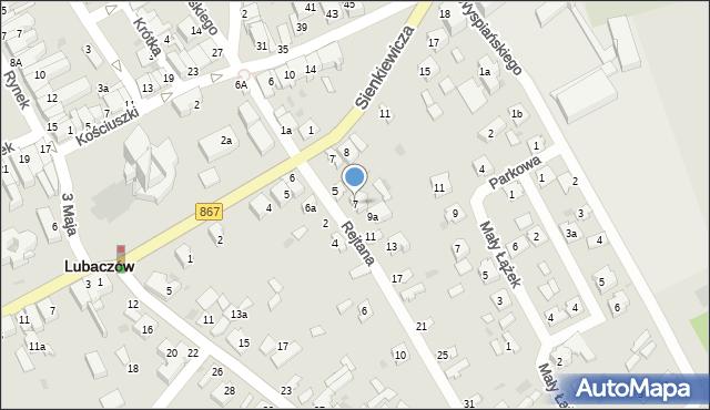 Lubaczów, Rejtana Tadeusza, 7, mapa Lubaczów