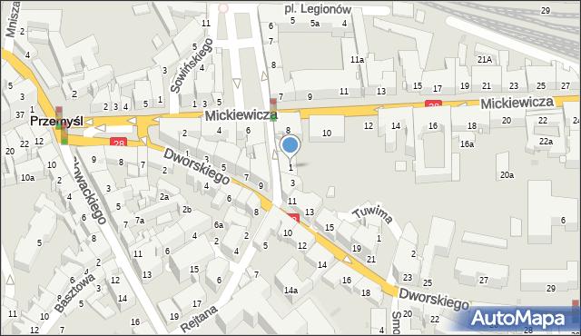 Przemyśl, Rejtana Tadeusza, 1, mapa Przemyśla