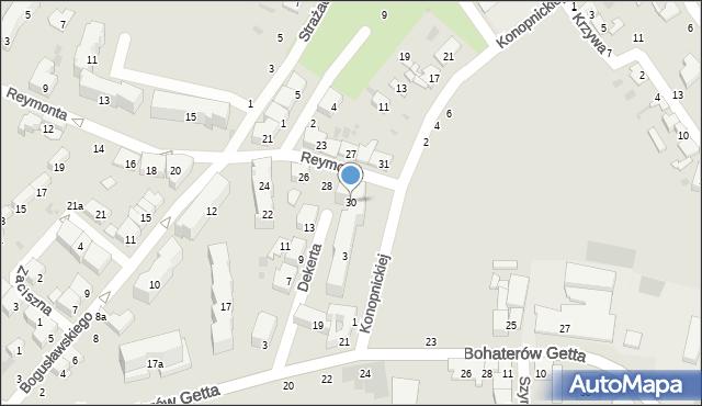 Przemyśl, Reymonta Władysława, 30, mapa Przemyśla