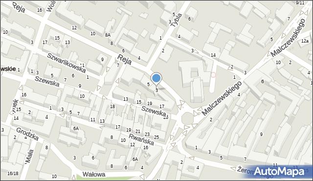 Radom, Reja Mikołaja, 3, mapa Radomia