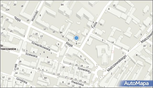 Radom, Reja Mikołaja, 4, mapa Radomia