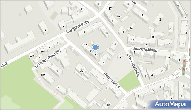 Rzeszów, Reformacka, 6, mapa Rzeszów