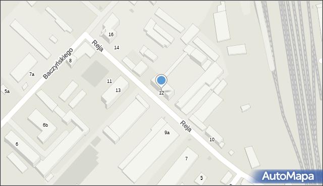 Rzeszów, Reja Mikołaja, 12, mapa Rzeszów